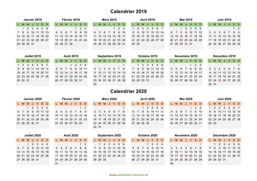 Calendrier Scolaire 20202019 A Imprimer.Calendrier 2019 2020 A Imprimer