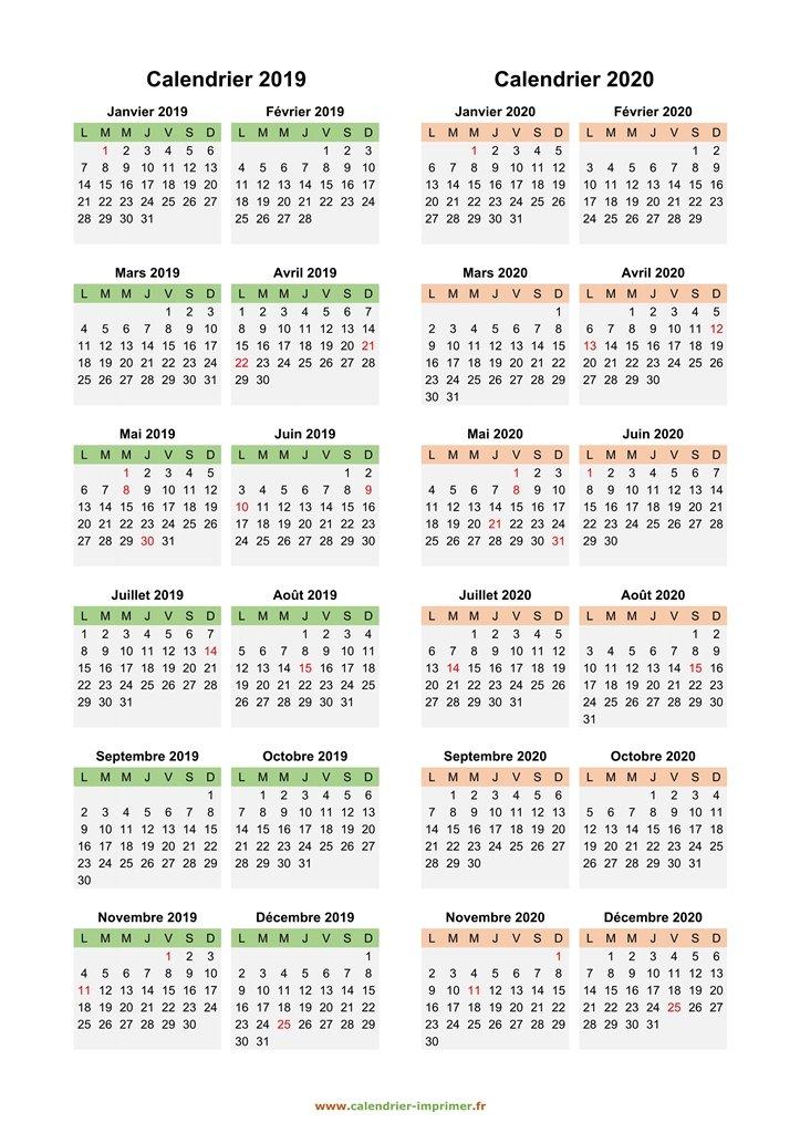 Calendrier Lunaire Avril 2020.Calendrier 2019 2020 A Imprimer
