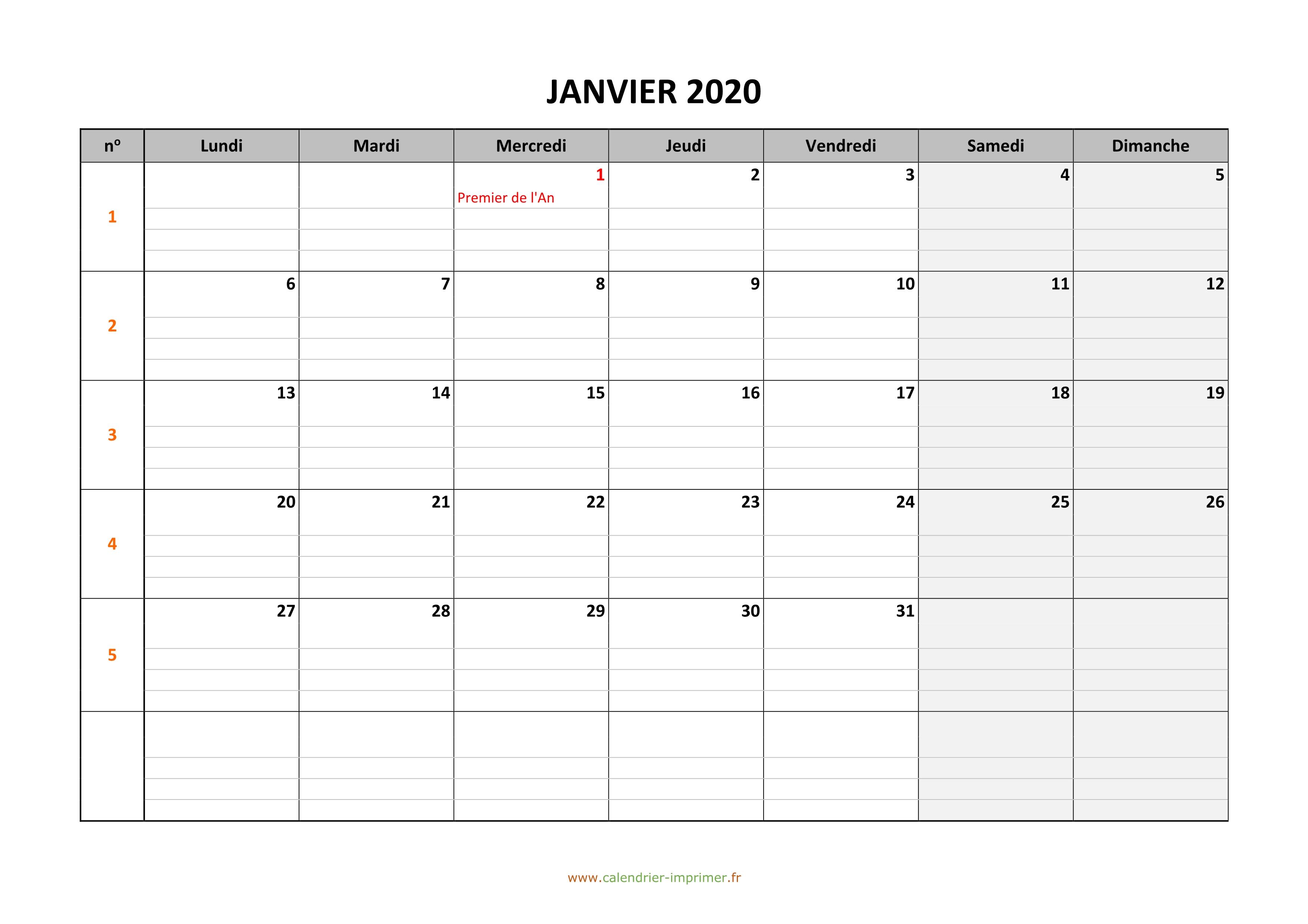 Cdg59 Calendrier Concours 2020.Calendrier Janvier 2020 A Imprimer