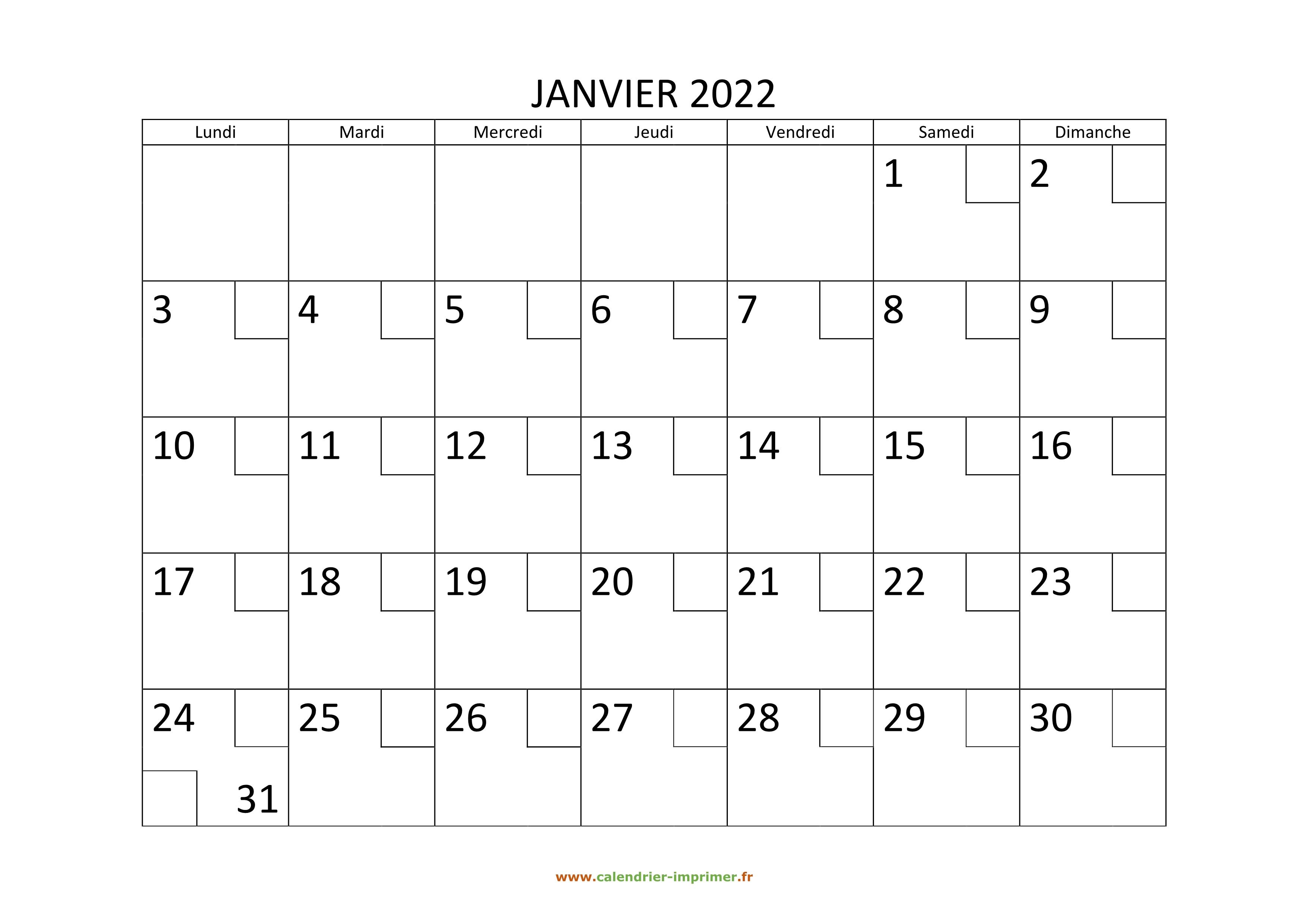 Calendrier 2022 Mensuel Excel Calendrier 2022 à imprimer gratuit