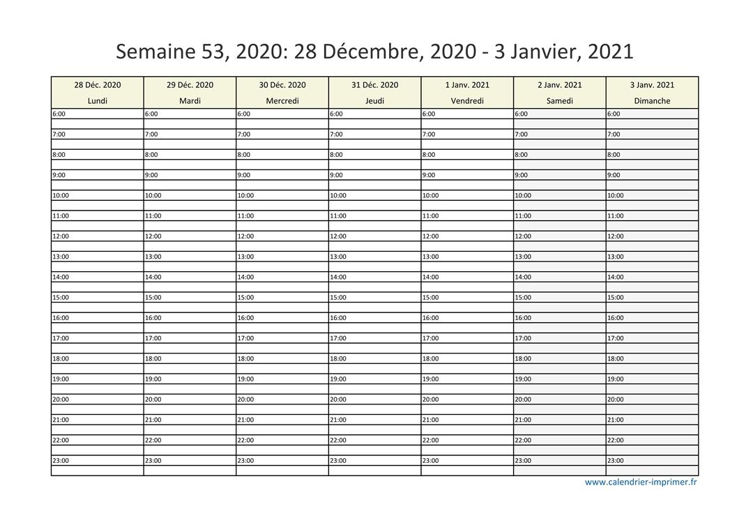 Calendrier Semaines 2020.Semaine 53 2020